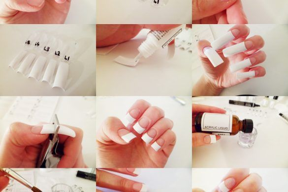 How To Do Gel Nails At Home Step By Easy Simple Gel Nails At Home Gel French Manicure Gel Nails Diy