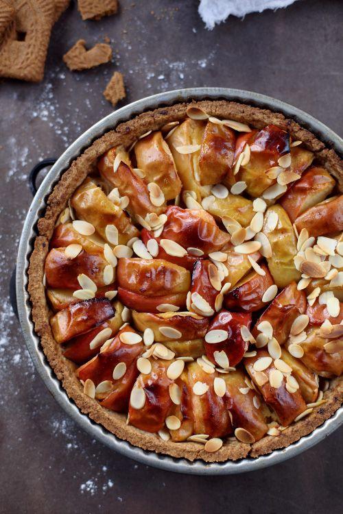 Tarte aux pommes et pâte spéculoos