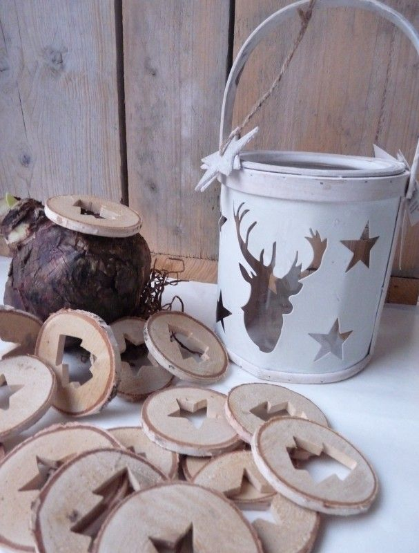 Boomstam hanger Ster & Kerstboom | Kerst | something like this would be nice as a favor
