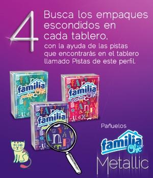Pañuelos Familia® Chic Metalic - instrucción 4