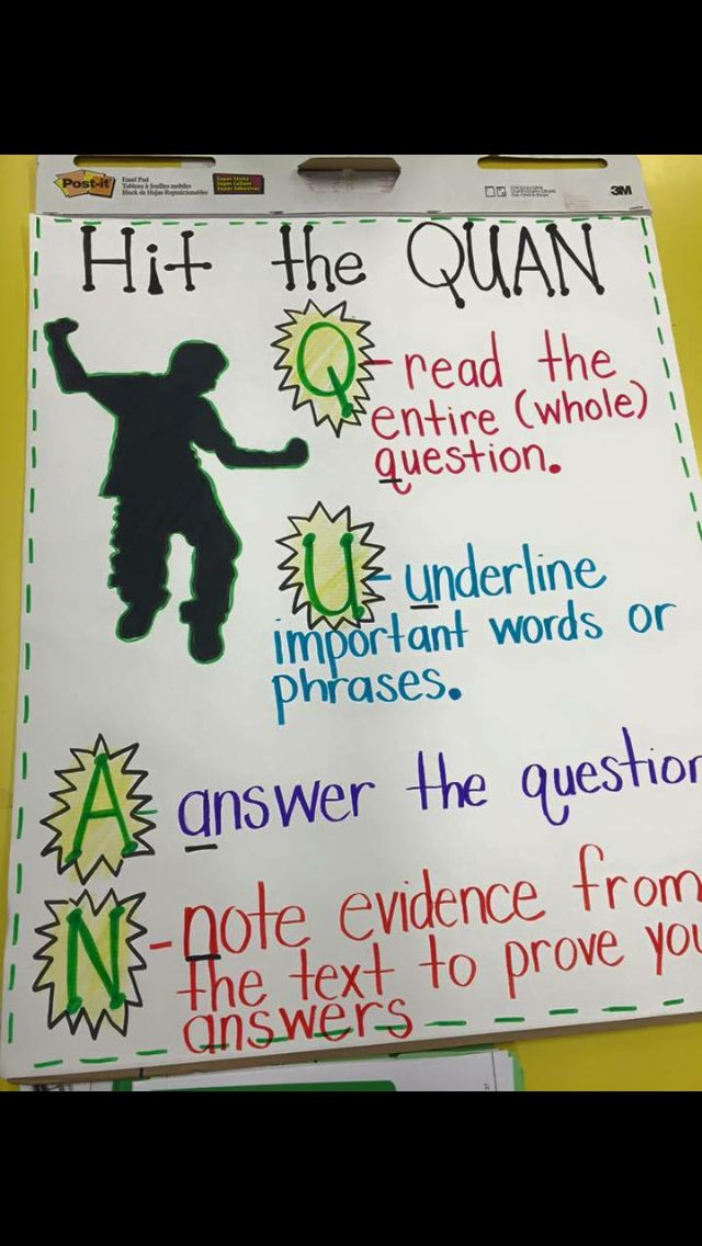 Hit the Quan Anchor Chart for writing! So great for middle school or high school English classes!