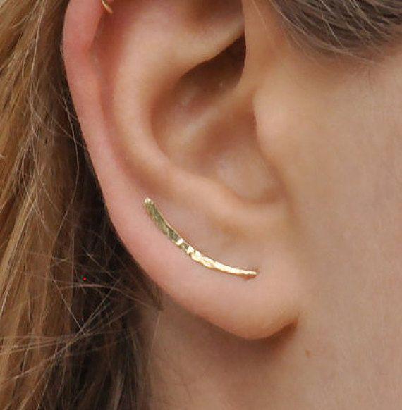 Ear Climber Ear Climbers Earrings Gold Ear Pins Climber