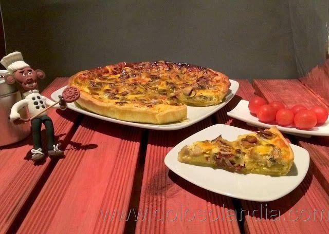 Quiche lorraine (tarta salada) Fácil receta casera, paso a paso.  http://www.golosolandia.com/2013/11/quiche-lorraine.html