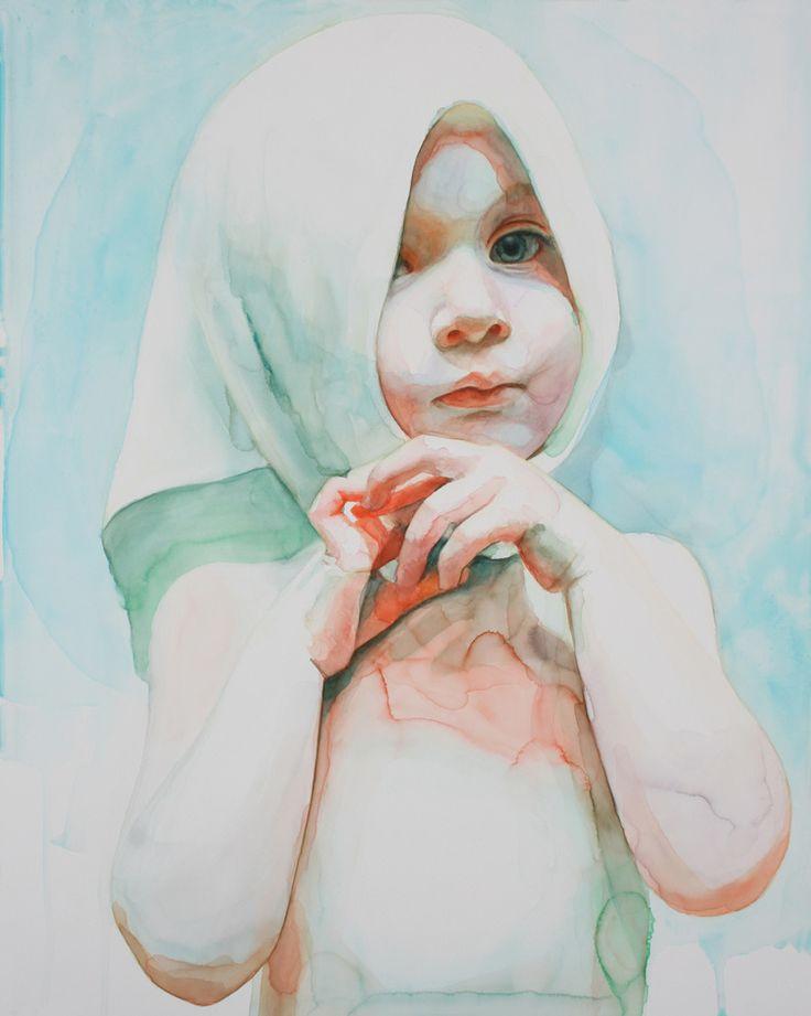 Innocence of Children in Watercolor