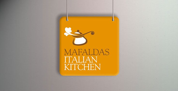 Restaurant Logo Design  Logo design for a small family owned restaurant business based in Spain serving traditional wholesome Italian food. The logo needed to reflect the intimate nature of the restaurant. The colours and typographic combination conveyed a boutique and niche feel... family run and owned.