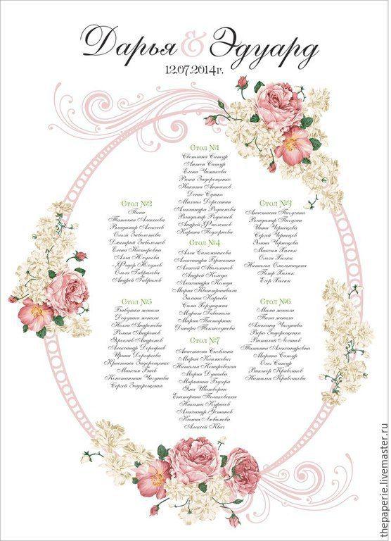 скачать шаблоны для рассадки гостей на свадьбе - фото 6