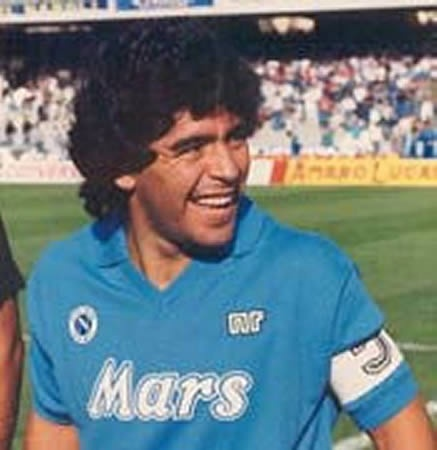 Maradona during his time as the Prince of Naples.