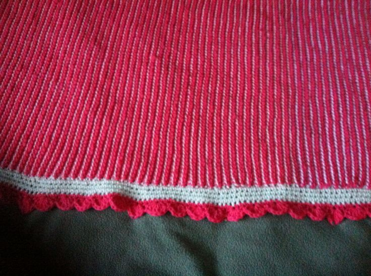 Baby girl Tunisian crochet blanket