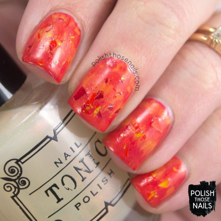 What The Fawkes?! // Polish Those Nails // The Digit-al Dozen - Mythical Creatures // Inspired by Fawkes the phoenix // zoya - tonic nail polish - lucky 13 lacquer - indie polish