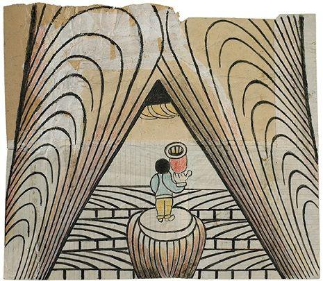 Trains, saints & cowboys: Schizophrenic artist Martin Ramirez's drawings from the mental hospital | Dangerous Minds