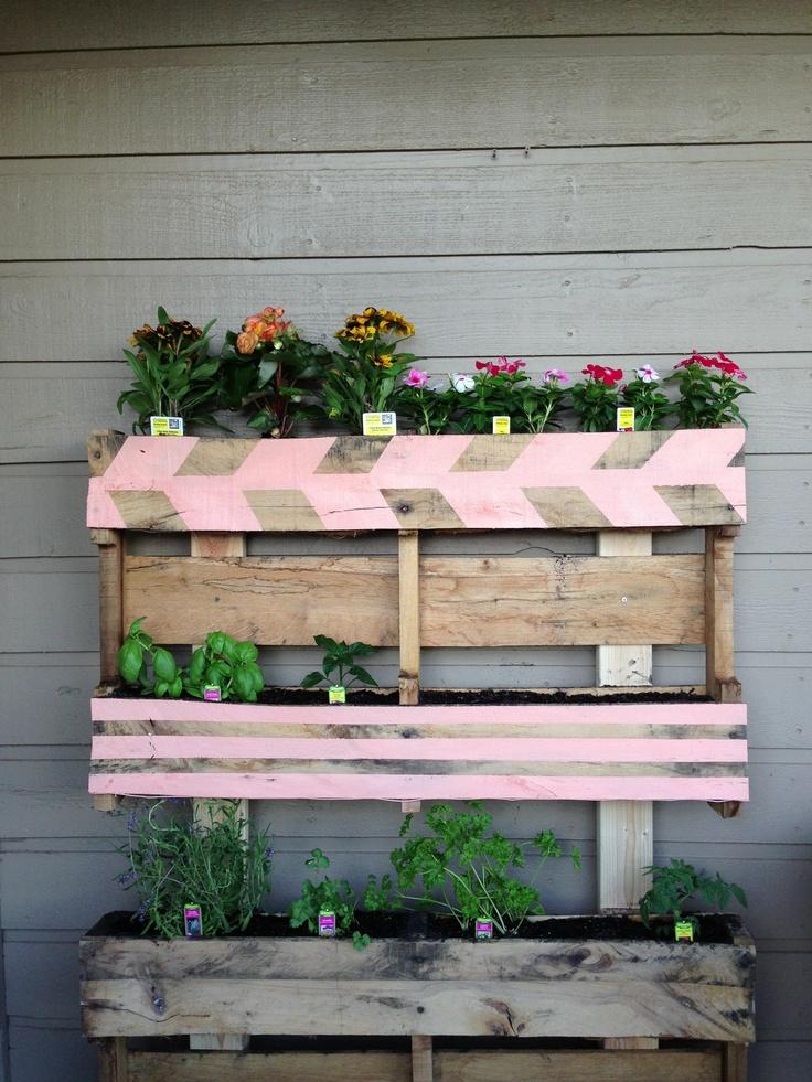 25 unique herb garden pallet ideas on pinterest pallet for Diy pallet herb garden