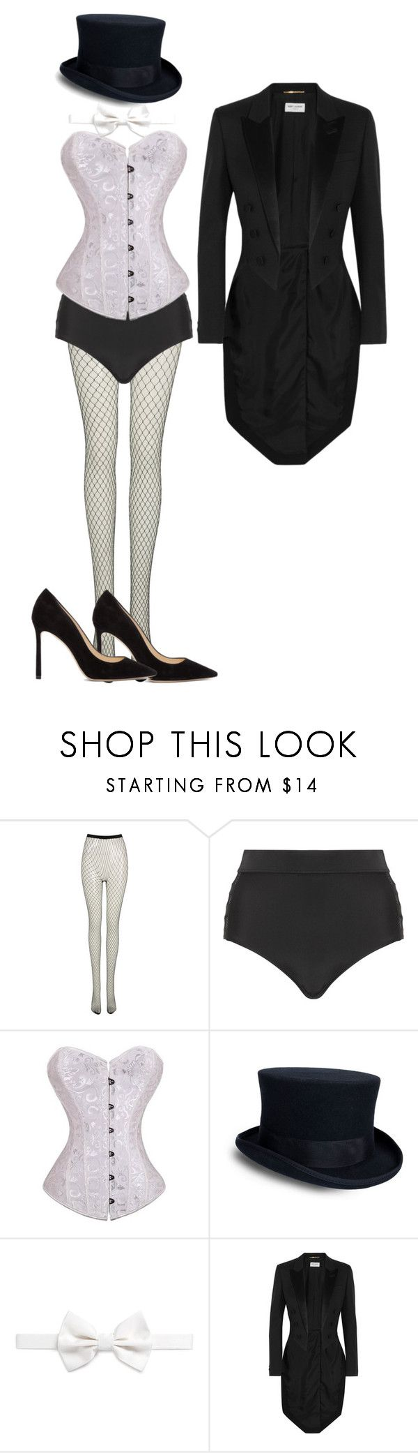 """zatanna cosplay"" by klhowe ❤ liked on Polyvore featuring Frontrow Limited, Cactus, Armani Collezioni, Yves Saint Laurent and Jimmy Choo"