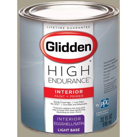 Glidden High Endurance, Interior Paint and Primer, Potter's Clay Beige, # 40YY 38/107, Eggshell, Quart, Brown