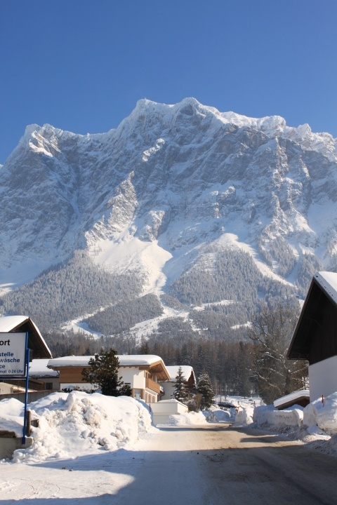 View of the Zugspitze from Ehrwald, Austria