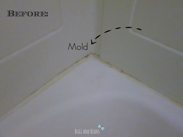 Do you know that mold that's stuck under the caulk? This is an amazing solution that eliminates it without scrubbing.