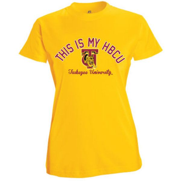 Product: Tuskegee University Golden Tigers 'This Is My HBCU' Women's T-Shirt: www.bkstr.com