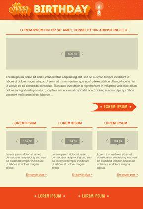 Ejemplo de plantilla HTML gratuita para emailing - Sarbacán