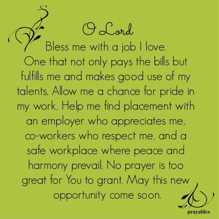Prayer New Job Prayer Prayables Prayer for a job