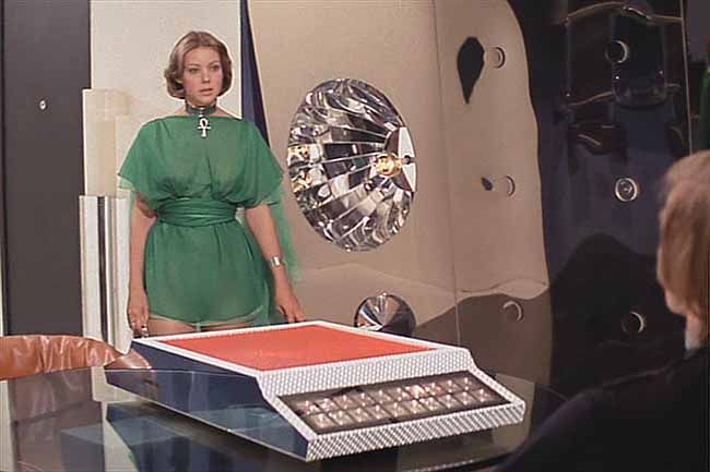 Logan's run. Sexy costume. Sexy computer.
