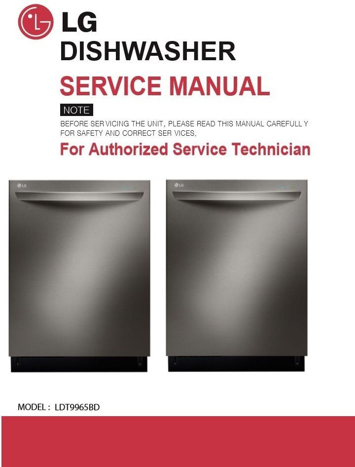 lg ldt9965bd dishwasher service manual and troubleshooting