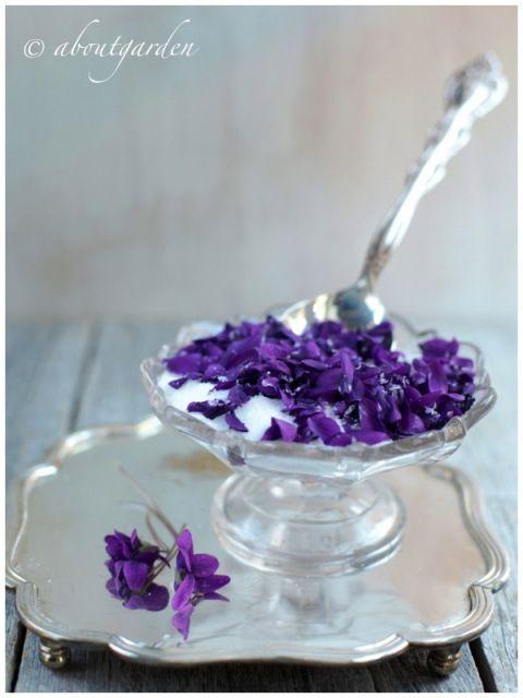 Making violet sugar