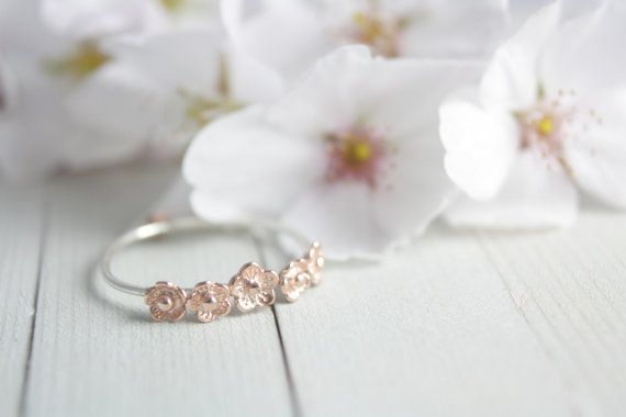 Hey, I found this really awesome Etsy listing at https://www.etsy.com/listing/184710644/sterling-silver-rose-gold-flower-ring