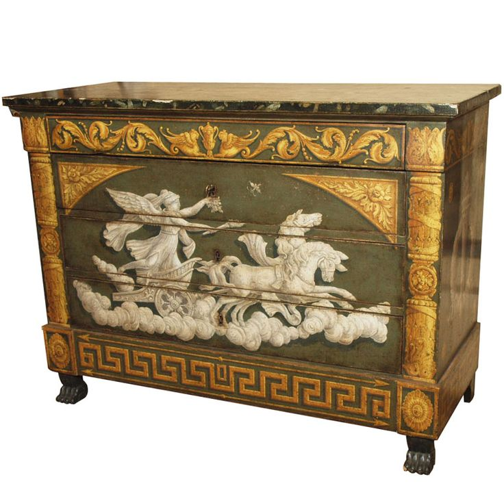 Italian Painted Empire Commode