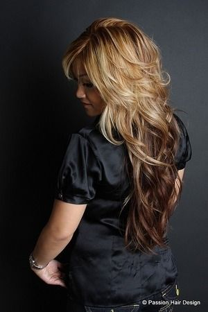 "Need to try this haircut for long hair - the ""v layer"" cut or the Victoria's Secret models' hair cut. Description from pinterest.com. I searched for this on bing.com/images"