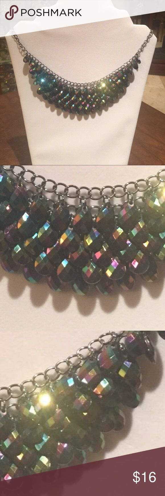 Iridescent purple statement necklace Beautiful colors, great statement piece Candies Jewelry Necklaces