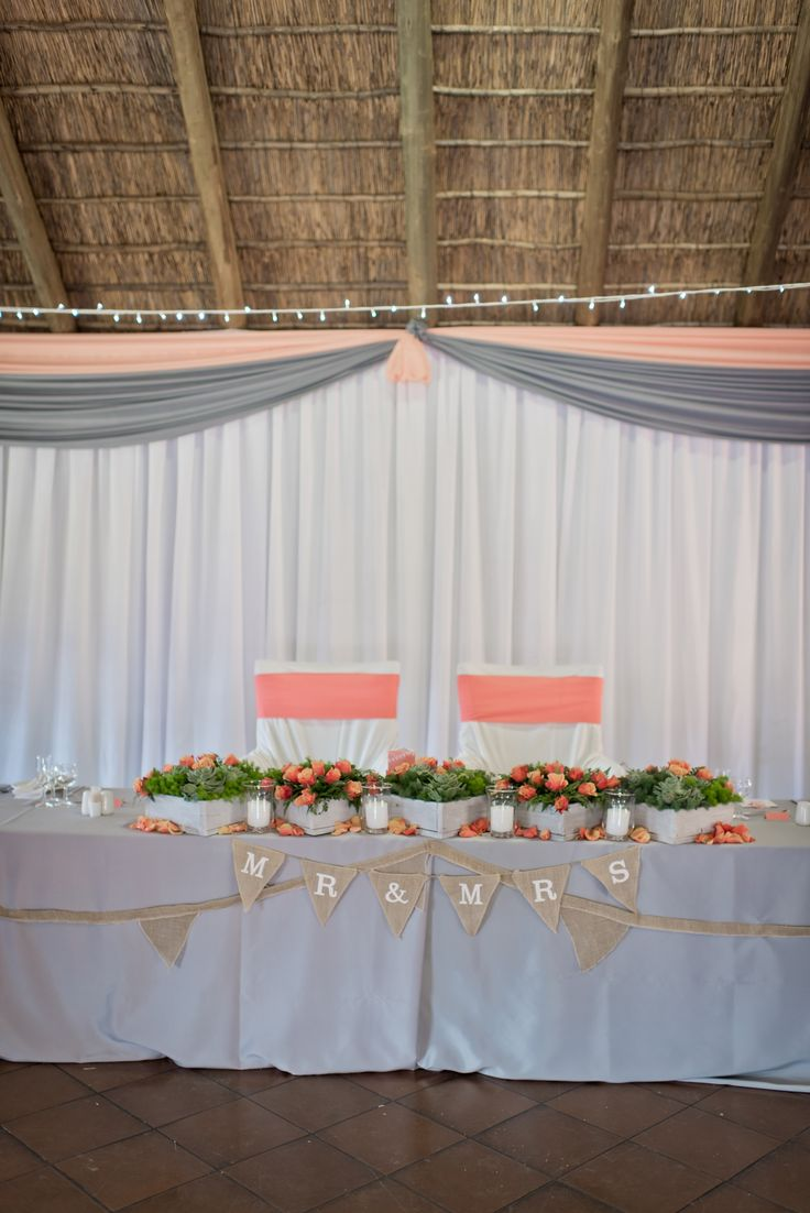 Roxanne & Eugene's Wedding at Bush Willow Tented Camp | Muldersdrift | Main table Photographs by Cilla Bloom