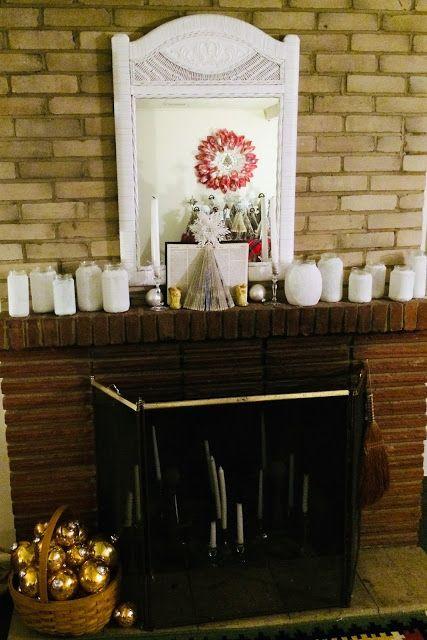 Snowy Glass Jar Luminaries
