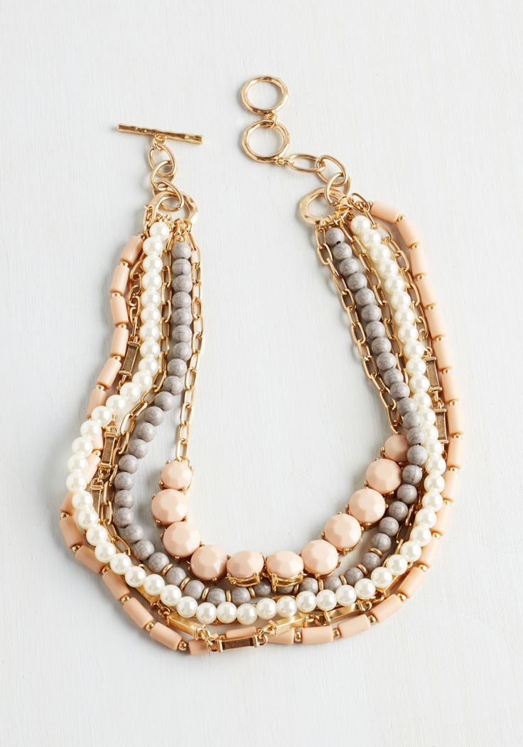 Yes You Glam Necklace in Blush. Wondering if you can sport this statement…
