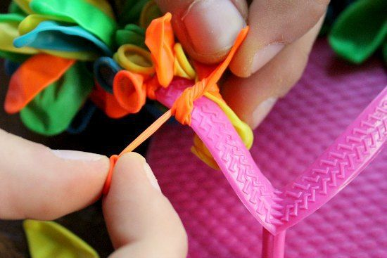 DIY how to make water balloon flip flops