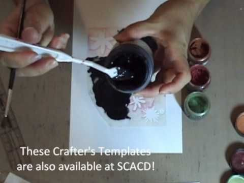 how to use mica powders in card making