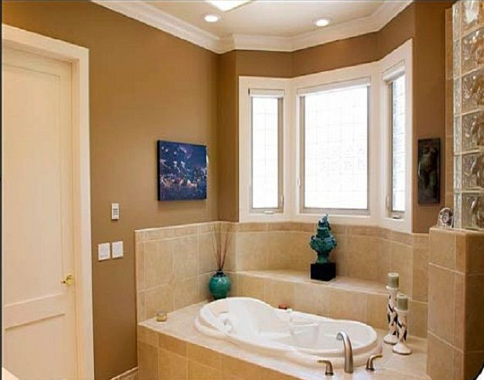 17 best images about bathroom on pinterest tub to shower for Paint bathroom ideas color