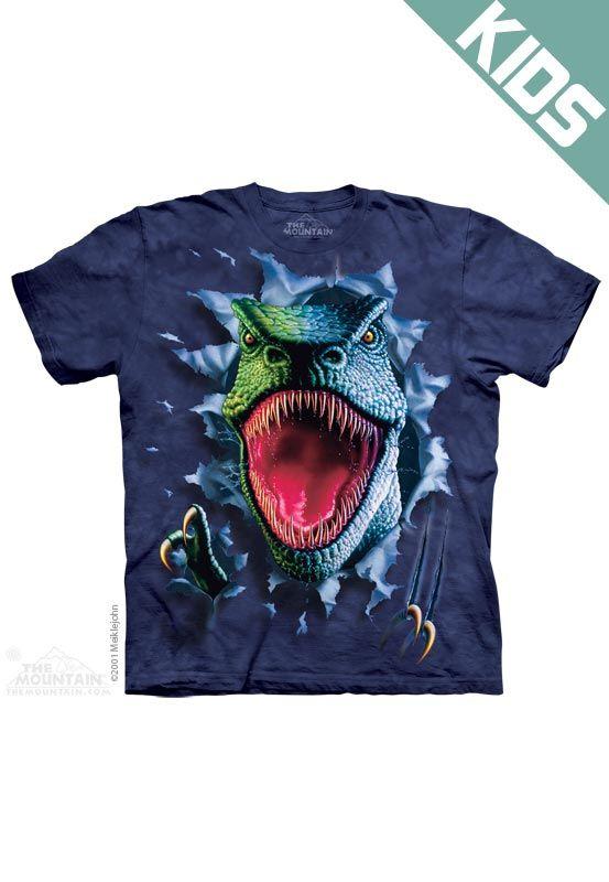 The Mountain Rippin' Rex Dinosaur T-Rex Child Youth Tee T-shirt