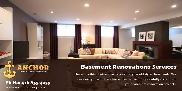 If your #basement #unfinished or you want to #renovate them then visit anchorcutting.COM for #basementrenovationservices in #Brampton. #BasementFinishing  #BasementRenovationServicesBrampton Contact us for more information- 416-835-4055 today!
