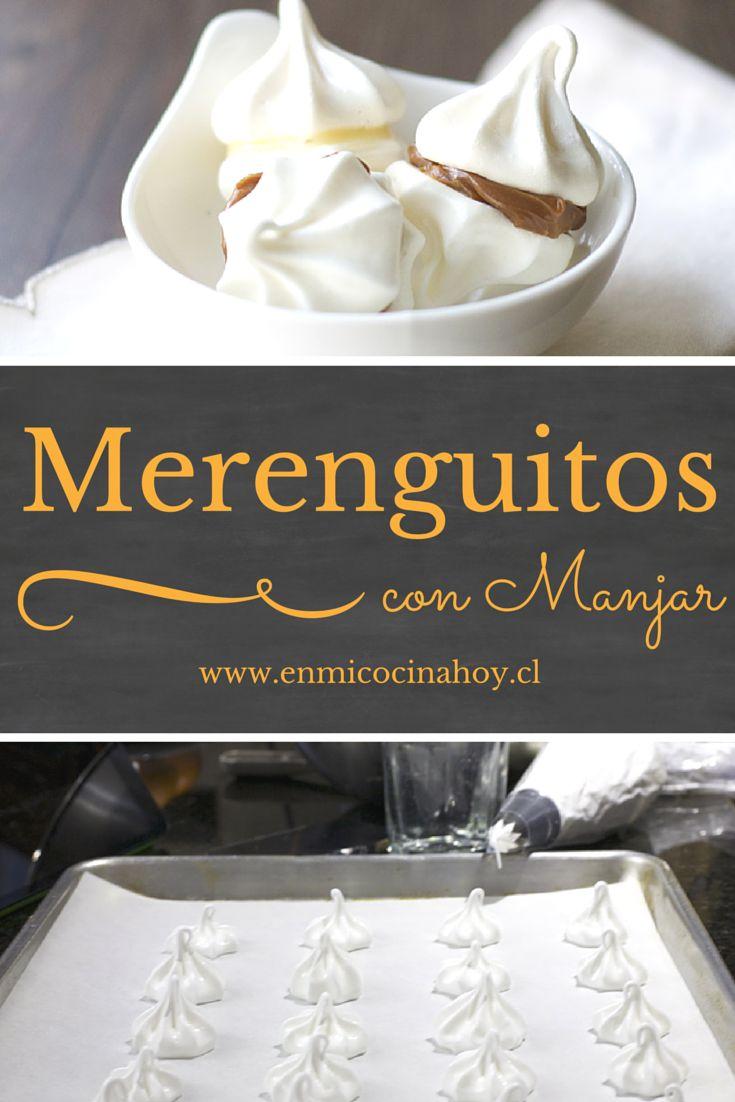 Los merenguitos con manjar son de las galletas mas tradicionales en Chile, parte de todas las celebraciones: bautizos, cumpleaños, no pueden faltar.