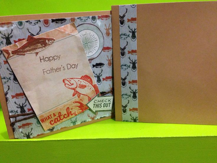 Fathers Day Card with matching Envelope made using Kaisercraft's Outdoor Trail collection