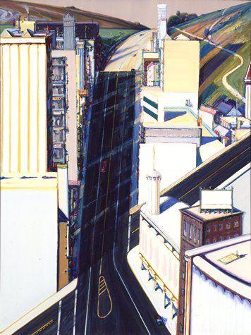 Wayne Thiebaud - 'Sunset Streets' (1985) American Realism