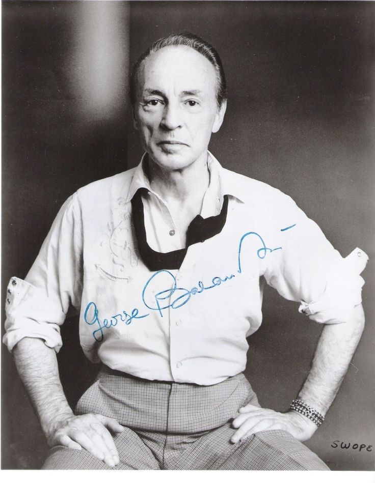 George Balanchine American Choreographer B w 8x10 Autographed Photograph | eBay