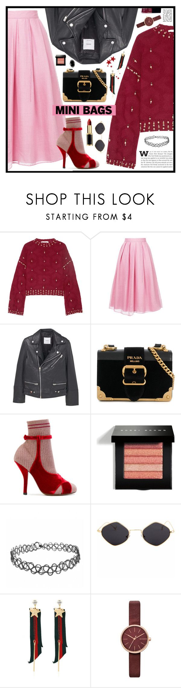 """""""NEW ME!"""" by monicamonii ❤ liked on Polyvore featuring Jonathan Simkhai, Jupe By Jackie, MANGO, Prada, Fendi, Bobbi Brown Cosmetics, WithChic, Skagen, Chanel and Le Vieux"""