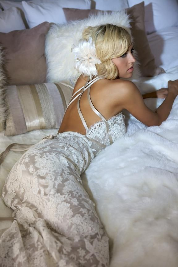love the backless wedding dresses