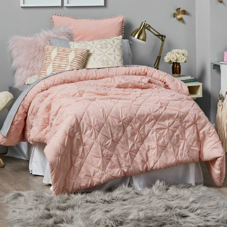 ANother bed bath beyond comforter! comes in this pink or vanilla. only $59 for twin!!!