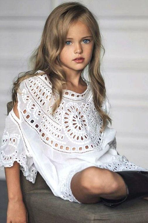 • Blue Eyes • Tan Skin • Dark Blonde Hair • Little Girl • Child •