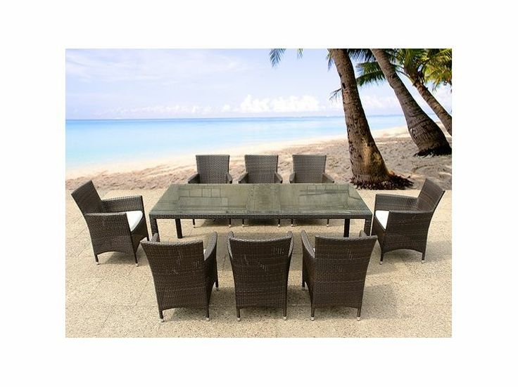 All Weather Wicker Dining Sets Images Rooftop Decks On