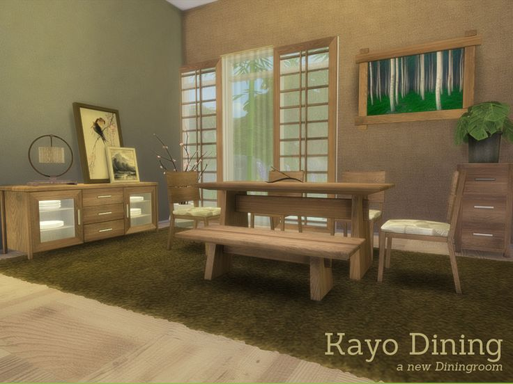 Created By Angela Kayo Dining For The Sims 4 A New Asian Styled Diningroom Looks Like 3 Latis But Are Completely