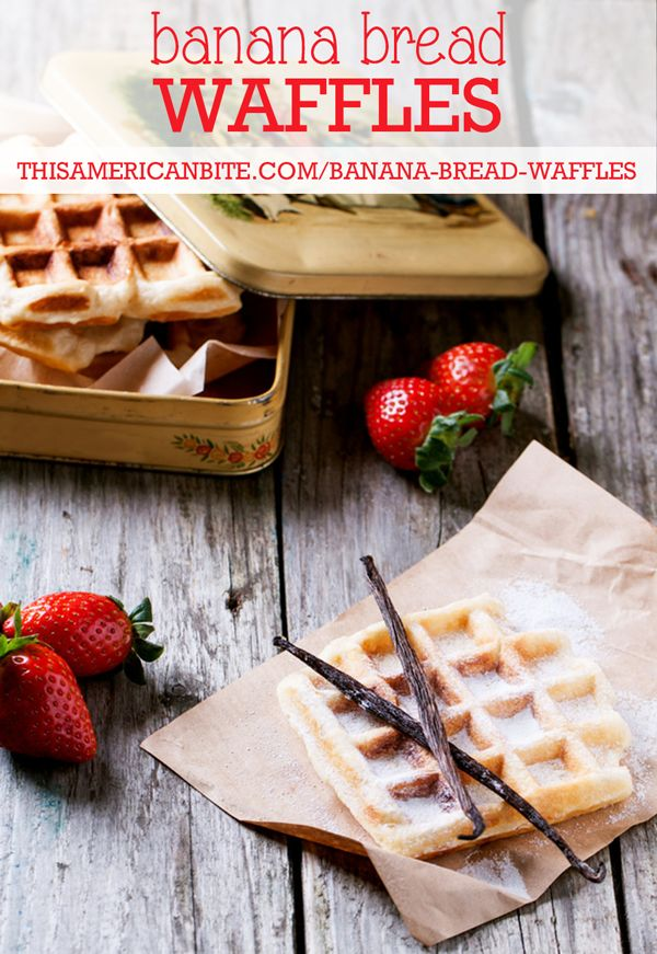 Change up your Sunday Brunch with these Banana Bread Waffles... they are #glutenfree but no one would ever know it.
