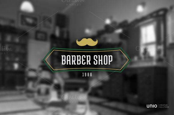 Barbershop Logo by Unio | Creative Solutions on Creative Market
