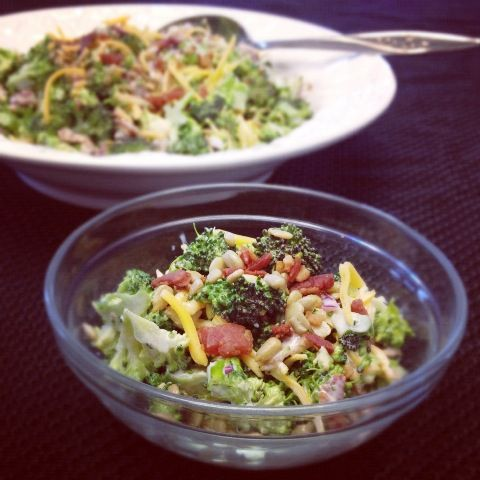 Broccoli Salad With Bacon and Sunflower Kernels #SundaySupper